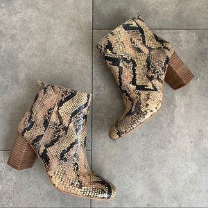 Lucky brand sheirin snakeskin booties size 8